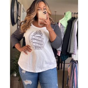 Torrid Grey White Shirt